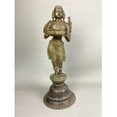 Bronze Dipa Lakshmi Temple Lamp